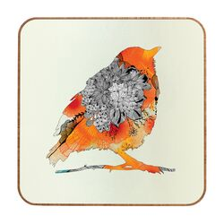 Orange Bird by Iveta Abolina Framed Graphic Art Plaque
