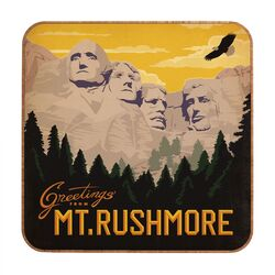 Mount Rushmore by Anderson Design Group Framed Vintage Advertisement Plaque