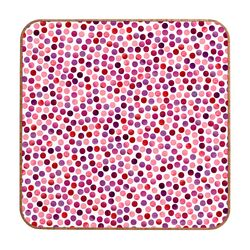 Watercolor Dots Berry by Garima Dhawan Framed Graphic Art Plaque