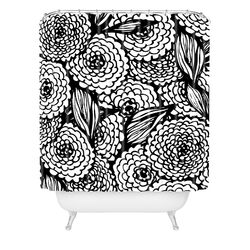 Julia Da Rocha Bouquet of Flowers Love Woven Polyesterrr Shower Curtain