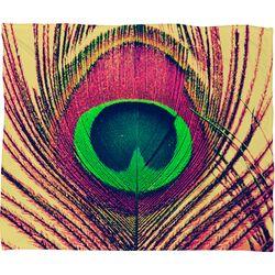 Shannon Clark Peacock 2 Polyester Fleece Throw Blanket