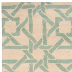 Indo Hand-tufted Ivory/Teal Area Rug