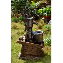Polyresin and Fiberglass Water Pump and Pot Water Fountain
