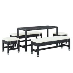 Lacuna 5 Piece Patio Dining Set with Cushions