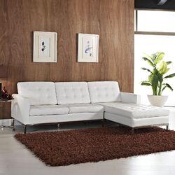 Loft Leather Left Arm Sectional Sofa