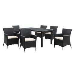 Deco 7 Piece Dining Set with Cushions