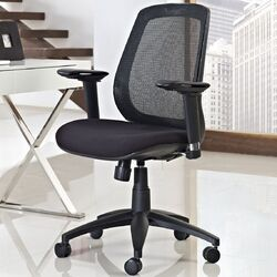 Cruise Mid-Back Mesh Office Chair with Adjustable Armrests