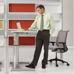 Airtouch� Laminate Worksurface Standing Desk