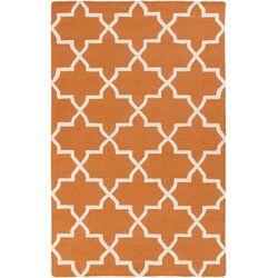 Pollack Orange Geometric Keely Area Rug