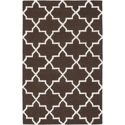Pollack Brown Geometric Keely Area Rug