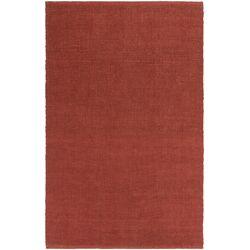HawaII Jane Hand-Woven Red Area Rug