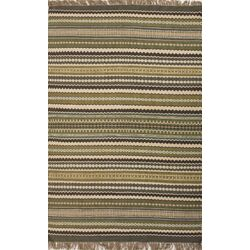 Java Green/Blue Stripe Area Rug