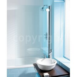 Simpsons Classic Hinged Shower Bath Screen
