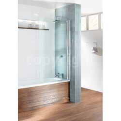 Simpsons Design Single Bath Shower Screen