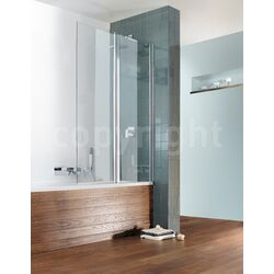 Simpsons Design Double Bath Shower Screen