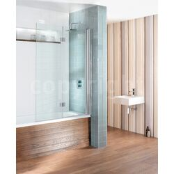 Simpsons Design View Hinged Double Bath Shower Screen