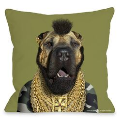 Pets Rock Fool Throw Pillow