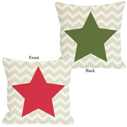 Chevron Star Reversible Pillow