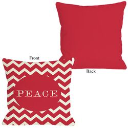 Peace Chevron Stripe Pillow