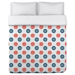 Anchor Wheel Polka Dot Duvet Cover Collection