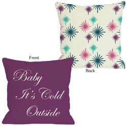 Baby It's Cold Outside Reversible Pillow