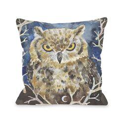 Rivers Owl Pillow with Zipper