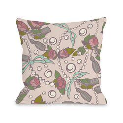 Quinn's Treasures - Rosy Peach Mint Pillow
