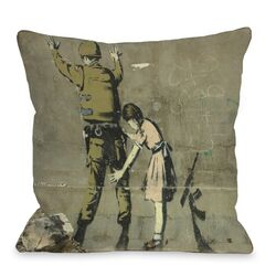Girl Checking Soldier Pillow