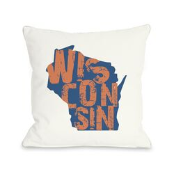 Wisconsin State Type Pillow