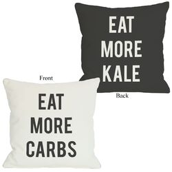 Carbs Vs Kale Reversible Pillow