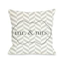Mr & Mrs Frame Pillow