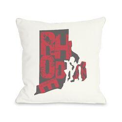 Rhode Island State Type Pillow