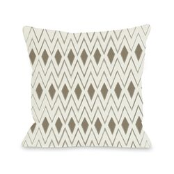 Natural Diamonds Geometric Pillow