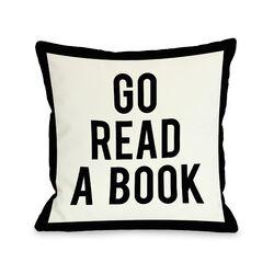 Gingham Go Read A Book Pillow