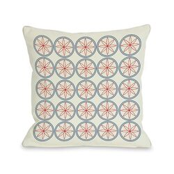 Circles and Flowers Pillow