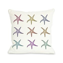 Starfish Pattern Pillow