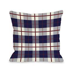 American Plaid Fleece Throw Pillow