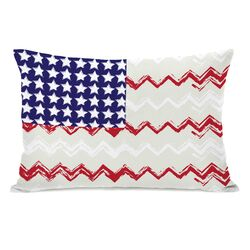 Chevron American Flag Lumbar Pillow