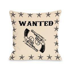 Wanted Stars and Guns Pillow
