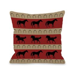 Horse Stripes Pillow
