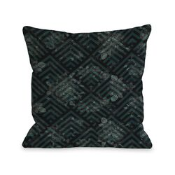Maya Scale Floral Pillow