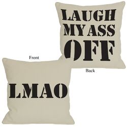 LMAO Reversible Pillow