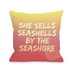 Seashell by the Seashore Pillow