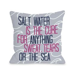 Salt Water Cure Waves Pillow