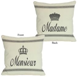 Madame/Monsieur Reversible Pillow
