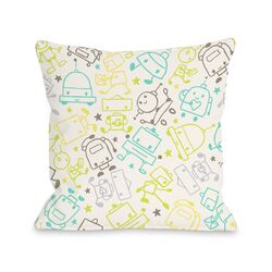 Space Robots Pillow
