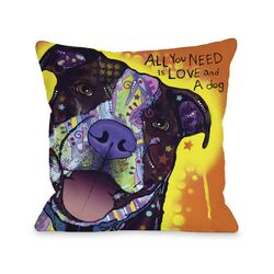 Doggy D�cor Daisy Pit with Text Pillow