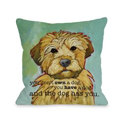Doggy D�cor Dog Has You Pillow