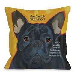 Doggy D�cor French Bulldog 3 Throw Pillow