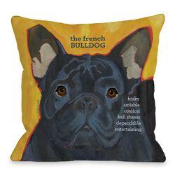 Doggy D�cor French Bulldog 3 Throw Pillow